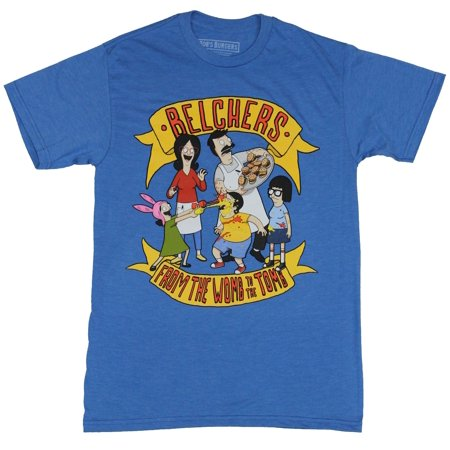 Bob's Burgers Mens T-Shirt - Belchers From the Womb to the Tomb](Louise Belcher Shirt)