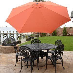 Premium Market Outdoor Patio Umbrella- BRICK TERRACOTTA (Crank & Tilt) STAND SOLD... by