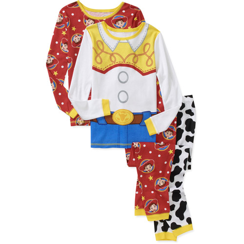 Disney Girls' Toy Story Jessie 4 Piece Cotton Pajamas