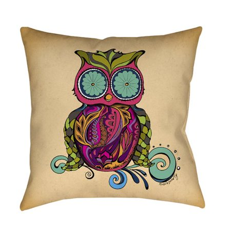 Manual Woodworkers & Weavers Owl Branch Gregir Throw Pillow