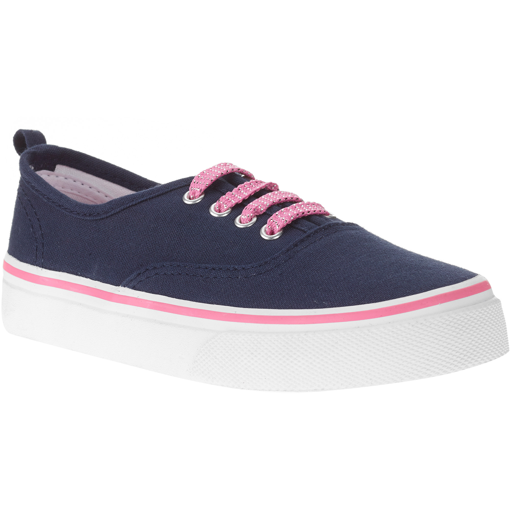 Faded Glory Girl'S Canvas Lace-Up Sneaker
