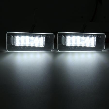 Pair 13.5V White LED Rear License Plate Lights For Hyundai Elantra 2011-2012  - image 4 of 7