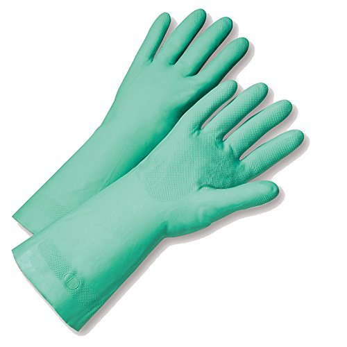 West Chester 33418/xl 15mil Flock Lined Greennitrile  Bulk Pa