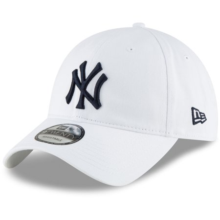 New York Yankees New Era Core Classic Secondary 9TWENTY Adjustable Hat - White - OSFA