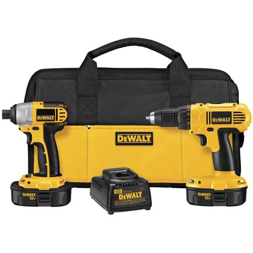 Factory-Reconditioned Dewalt DCK235CR 18V Cordless 1/2 in. Compact Drill Driver and Impact Driver Combo Kit (Refurbished)