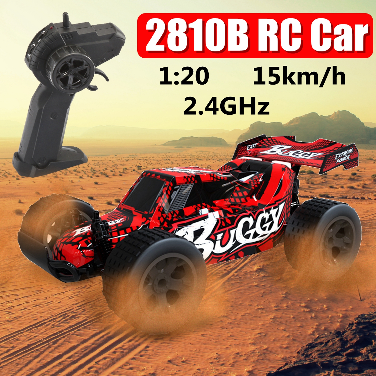 1:20 2.4GHz 4WD High Speed Radio Fast Remote Control RC Car RTR Racing buggy Car Off Road Toy For Children Gift,Red
