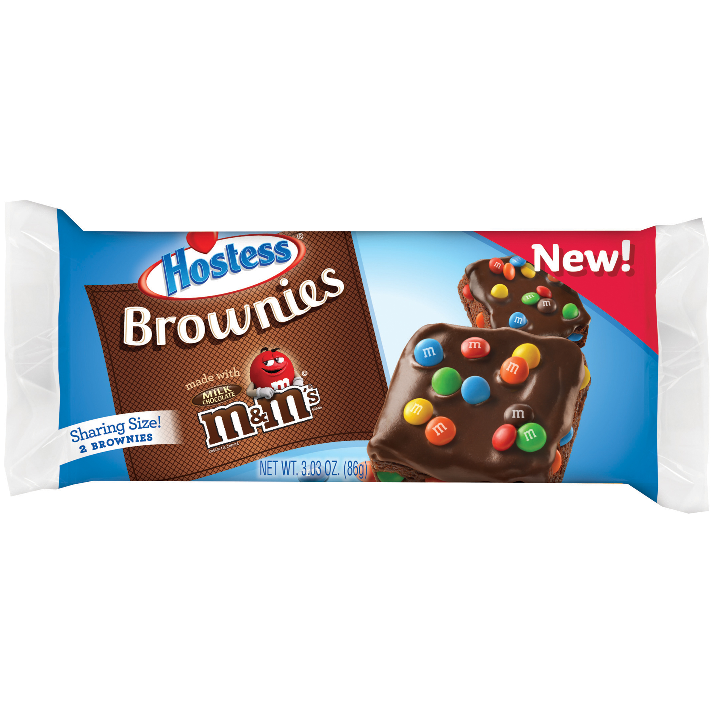 Hostess Brownies Made with Milk Chocolate M&M's, 3.03 oz