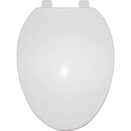 ProSource Toilet Seat, For Use With Elongated Bowls, Polypropylene Toilet Bowl Seal