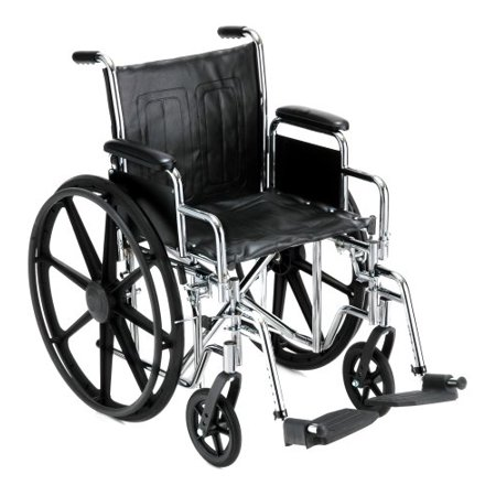 """NOVA Medical Products 18"""" Steel Wheelchair w/Detachable Desk Arms & Swing Away Footrests"""