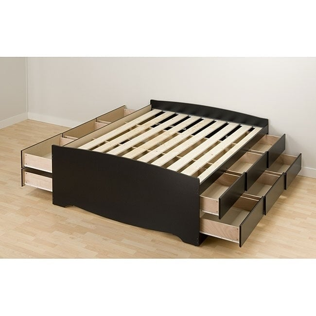 Prepac Black Tall Full 12-drawer Captain's Platform Storage Bed by Overstock