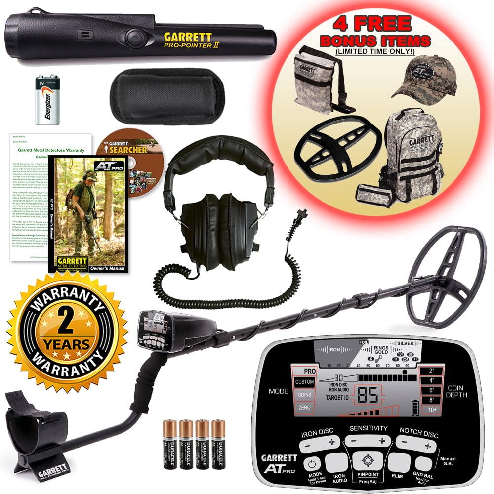 Garrett AT Pro Waterproof Metal Detector with ProPointer II and Bonus Pack by