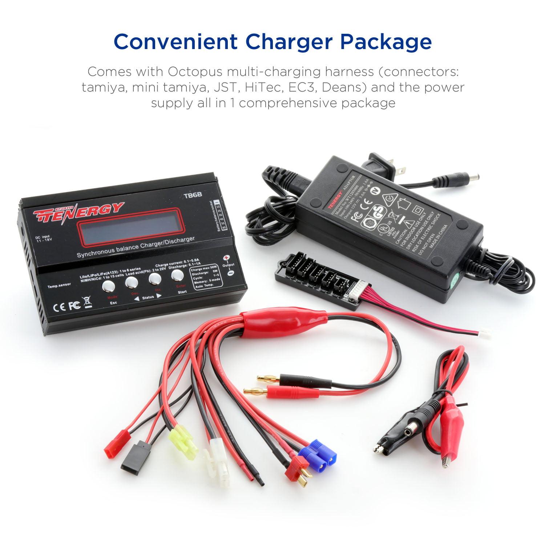 tenergy tb6 b balance charger for nimh nicd li po li fe battery rh walmart com