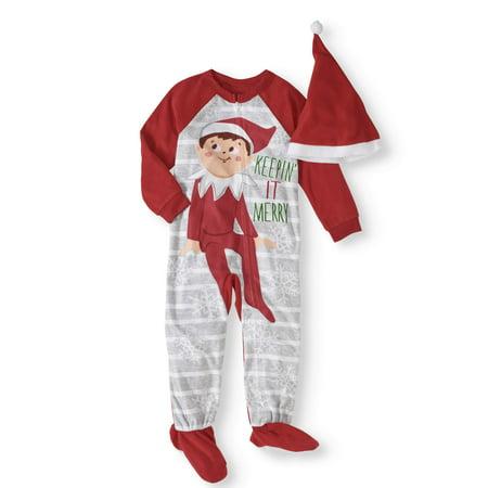 Girl Elf (Elf On The Shelf Toddler Boys' or Girls' Unisex Family Sleep 1-Piece)