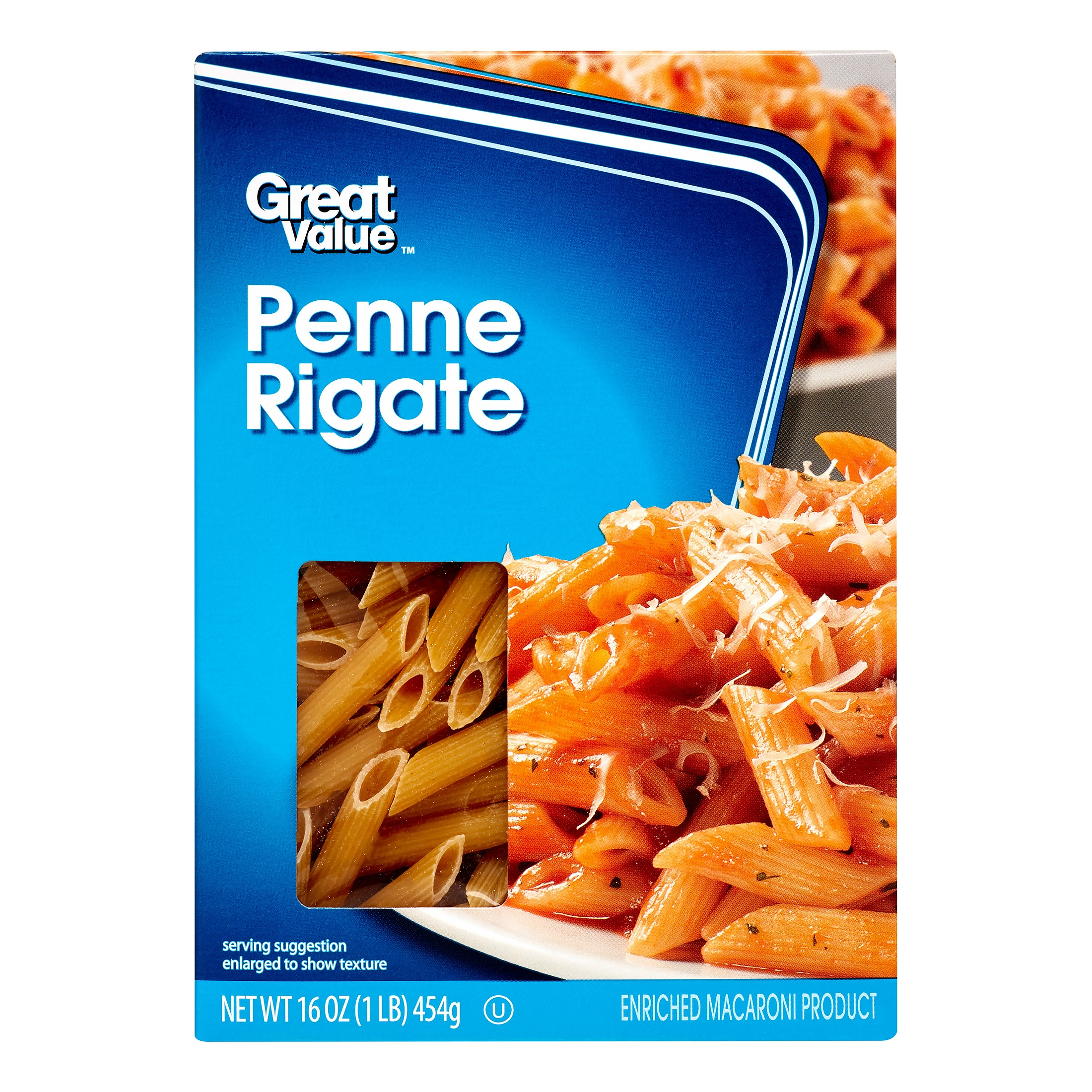 (6 Pack) Great Value Penne Rigate, 16 oz