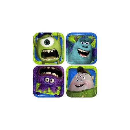 Monster Inc Monster University Party Supplies 8 Small Dessert Plates Birthday by Pixar