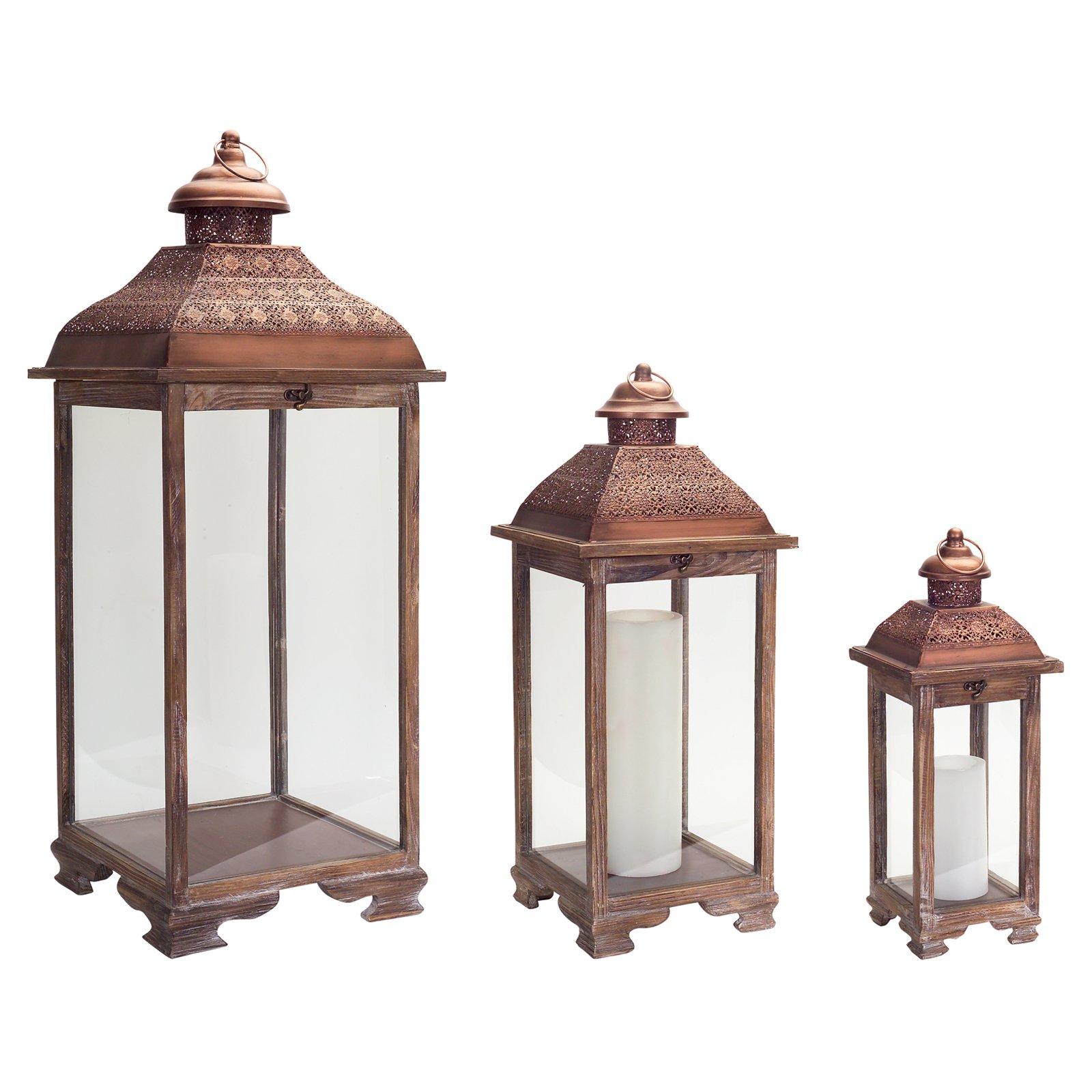 Melrose International Standard Lantern - Set of 3