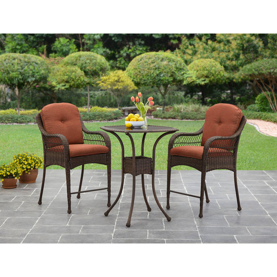 Better Homes And Gardens Azalea Ridge 3 Piece Balcony Bistro Set