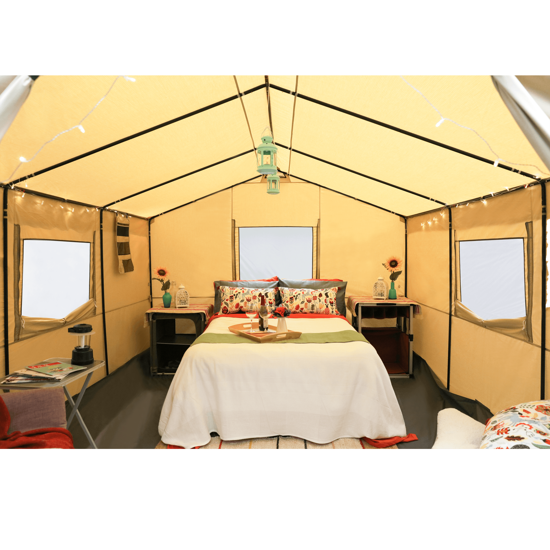 Ozark Trail 12X10 Ft All Season Outfitter Wall Tent, Sleeps 6   Walmart.com