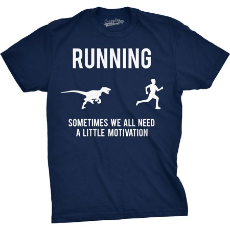 Mens Running Motivation Raptor Chase T Shirt Funny Dinosaur Tee For - Funny Onesies For Mens