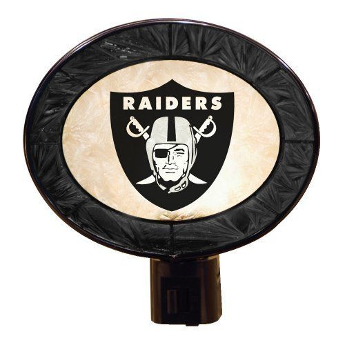Oakland Raiders Art Glass Night Light