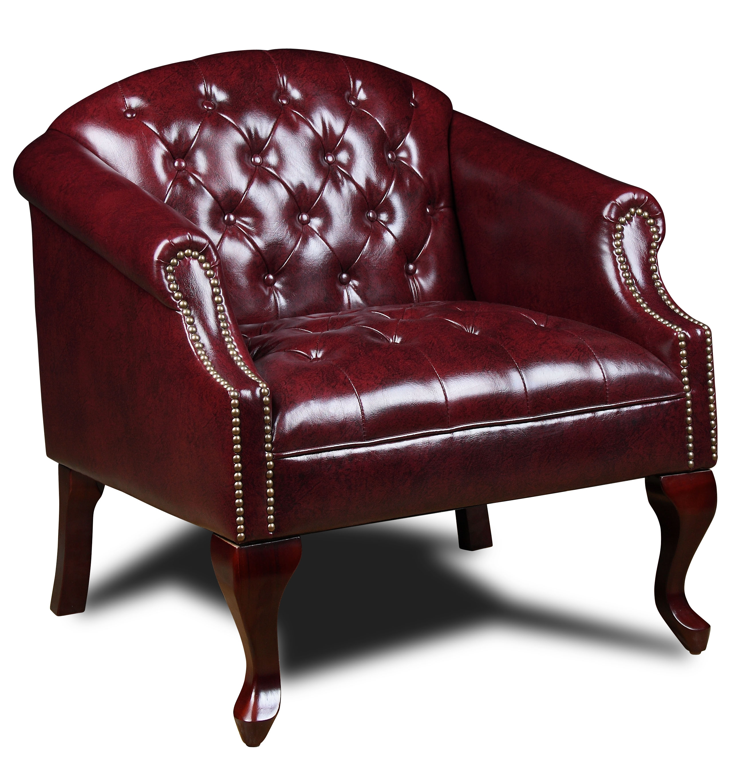 Boss Office & Home Oxblood Classic Traditional Button Tufted Club Chair