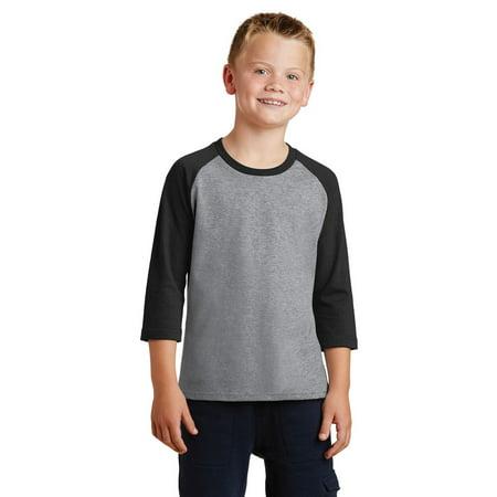 Port & Company® Youth 3/4-Sleeve Raglan T-Shirt Supply Co Raglan