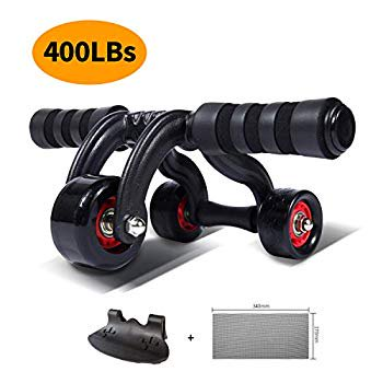 Ab Roller Wheel Exercise Equipment - 3/4 Ab Wheel Innovative Ergonomic Abdominal Roller Ab Workout Equipment - Ab Roller for Home Gym - Ab Machine for Ab Trainer -Abs Roller with Knee Pad