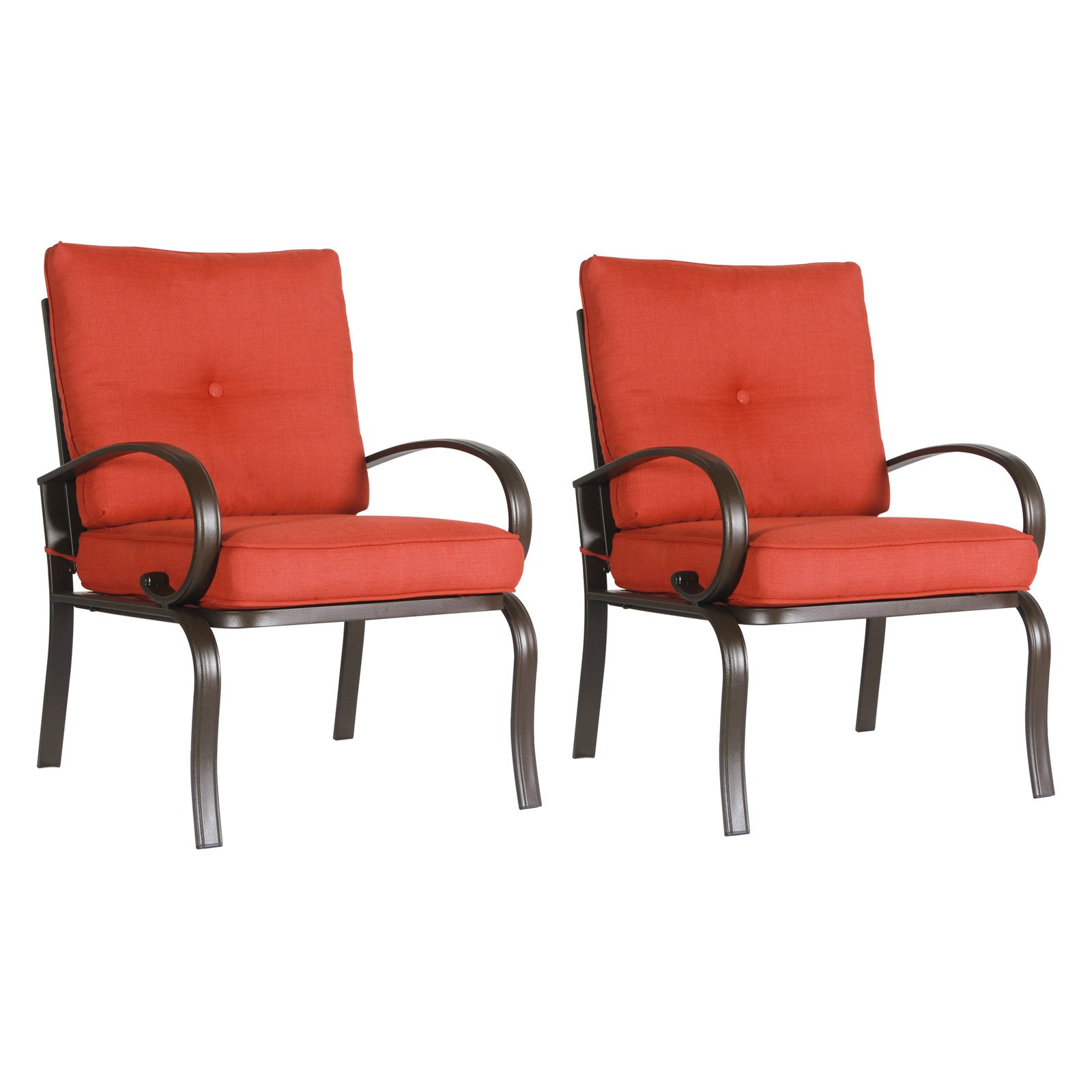 Cloud Mountain Wrought Iron Patio Club Dining Chair - Set of 2  sc 1 st  Walmart.com & Wrought Iron Patio Furniture