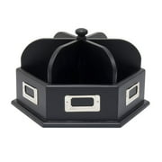 Studio Designs Wood Desk Carousel for Art and Office Supply Organization in Black