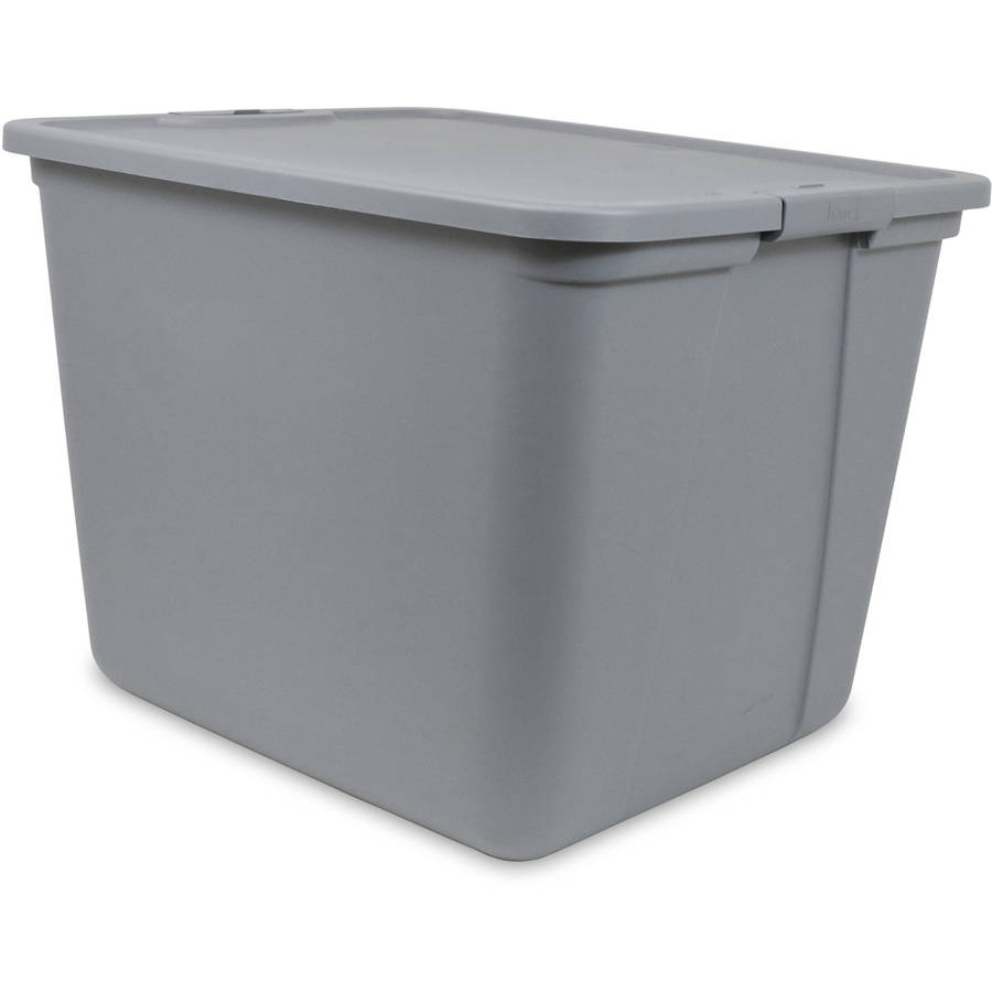 8 plastic tote box 20 gallon stackable utilization storage bin