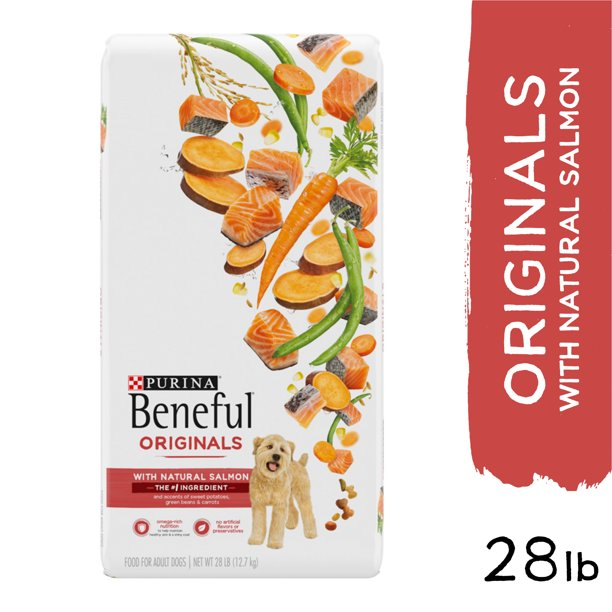 Purina Beneful Originals With Natural Salmon, Skin and Coat Dry Dog Food, 28 lb. Bag