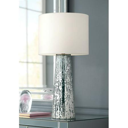 360 lighting modern table lamp mercury glass column shape - Modern lamp shades for living room ...
