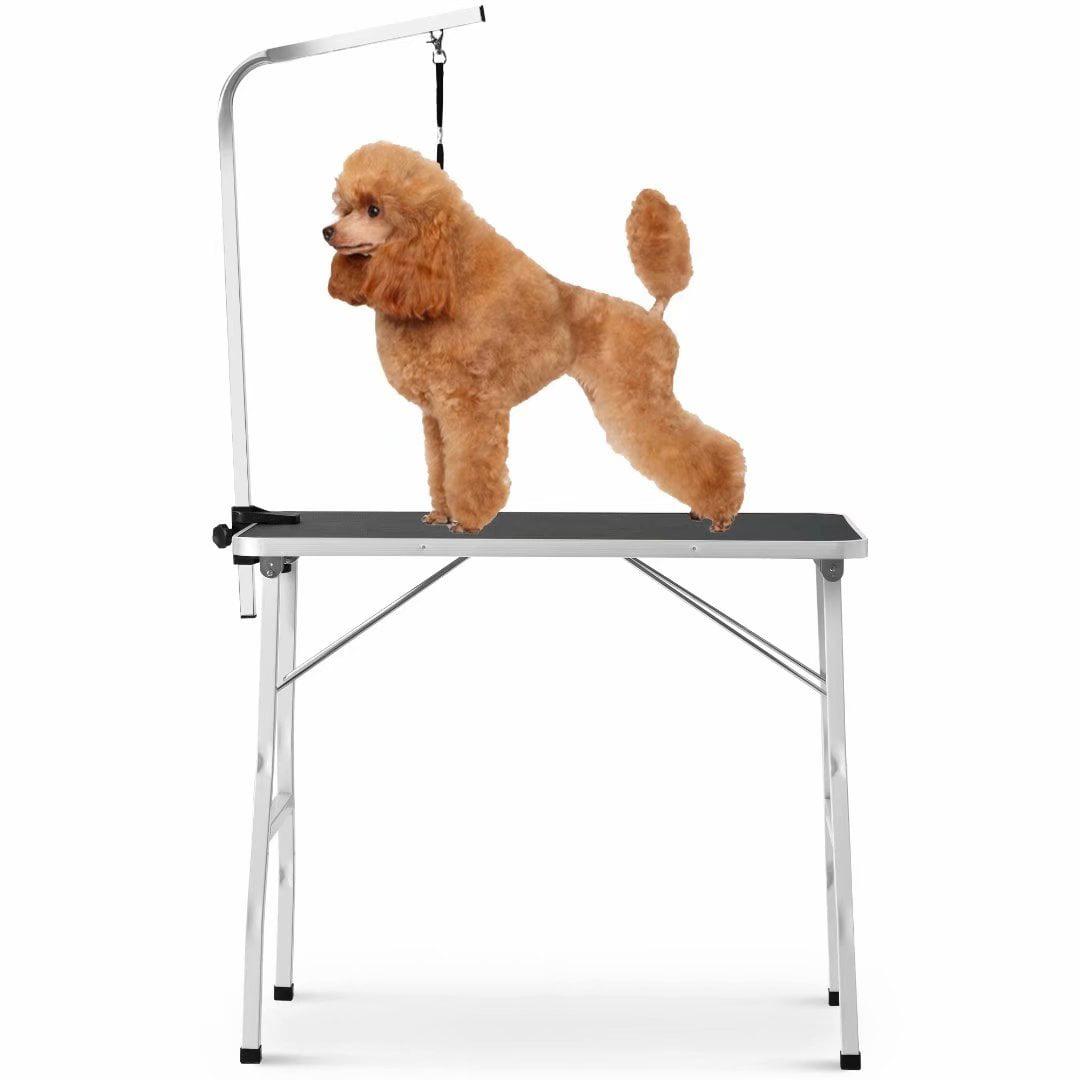 Akoyovwerve Midium Size 36 Steel Legs Foldable Nylon Clamp Adjustable Arm Rubber Mat Pet Grooming Table Walmart Com Walmart Com