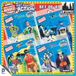Super Powers 8 Inch Action Figures With Fist Fighting Action Series 2: Set of all 4 Figures