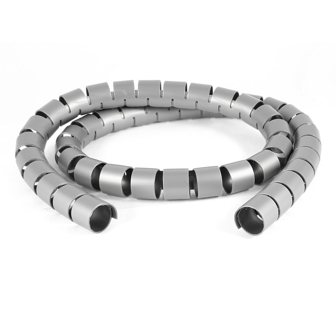 Cable Tube Spiral Wrapping Band Wire Wrap Cord Management Gray 1M 3.3Ft