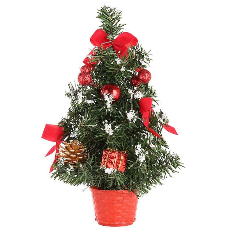 ENJOY 20/30/40cm Mini Christmas Trees Pine Tree Desktop Xmas Decorations Festival Home Party Ornaments