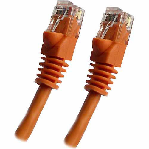 Professional Cable 50' Gigabit Ethernet UTP Cable with Boots, Orange