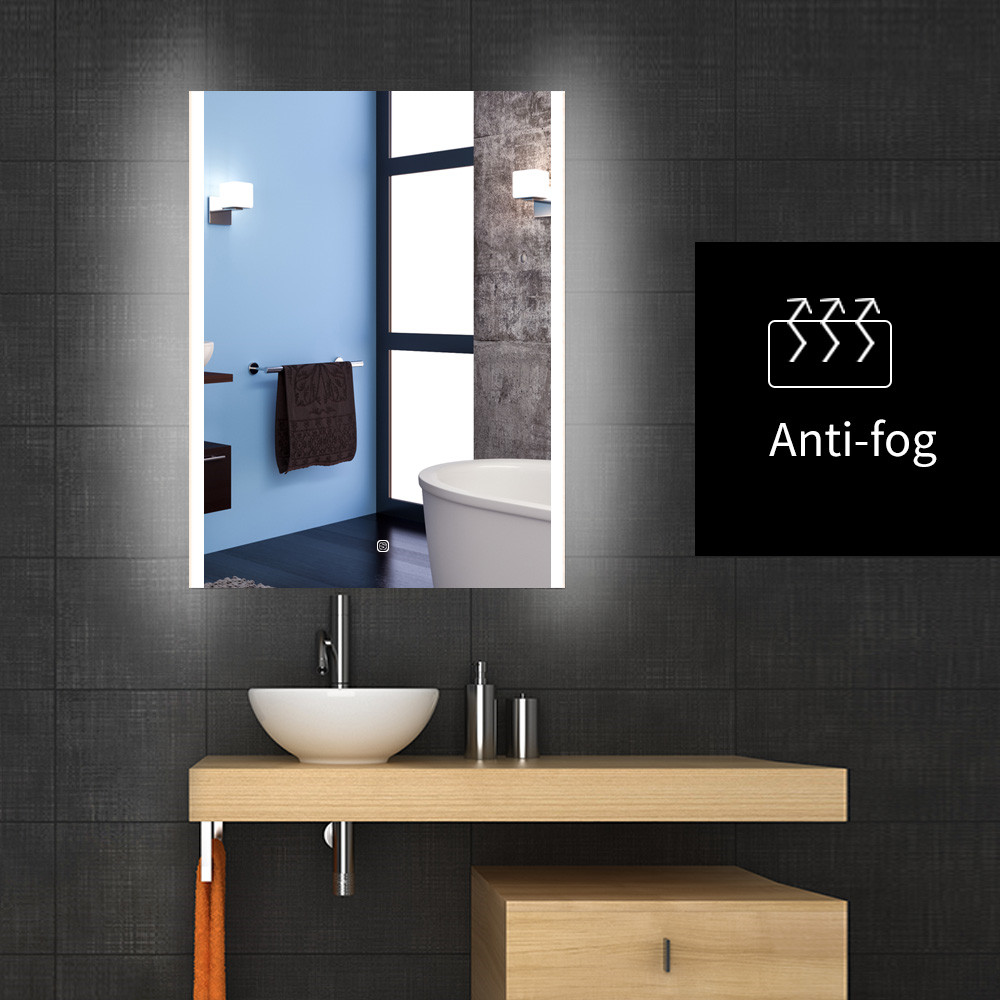TokeShimi 24 x 32 Inch Backlit Bathroom Mirror LED Vanity Mirror Dimmable Wall Mounted Bath Mirror with Lights Anti-Fog Lighted Makeup Mirror Horizontal//Vertical