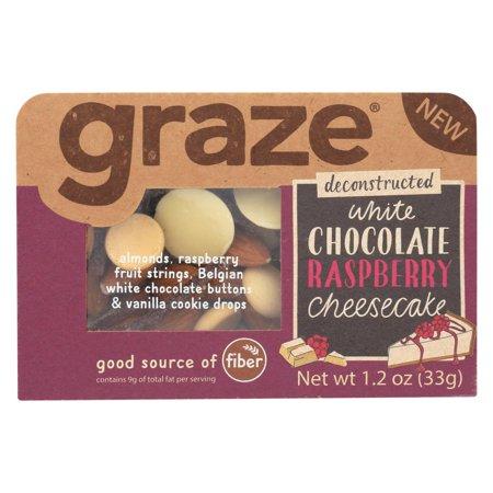 Graze - Snack Mix - White Chocolate Raspberry Cheesecake - Case Of 6 - 1.2 Oz.