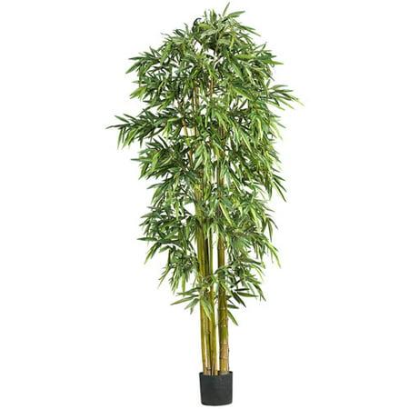 Nearly Natural 7 ft. Artificial Big Bamboo Silk Tree, Green