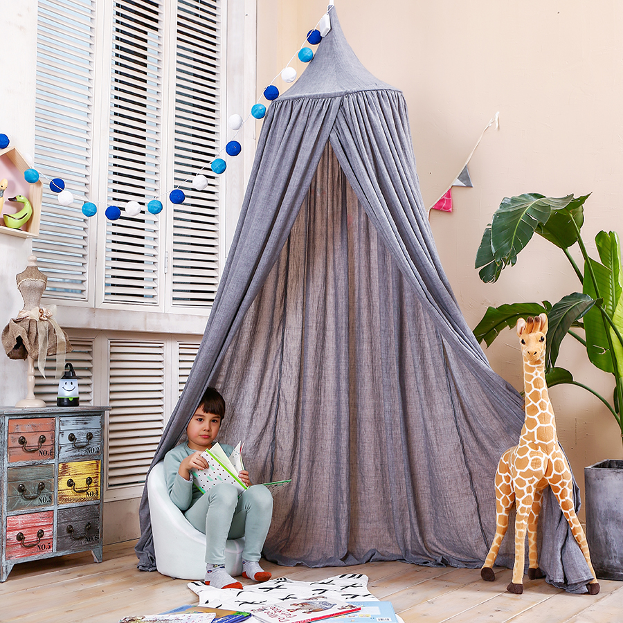 LoveTree Princess Canopy Kids Indoor Mosquito Play Tent Round Lace Bed Net Grey  sc 1 st  Walmart & LoveTree Princess Canopy Kids Indoor Mosquito Play Tent Round Lace ...