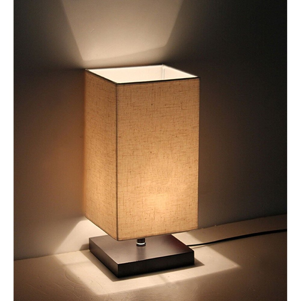Minimalist Solid Wood TIle Lamp Bedside Desk Lamp