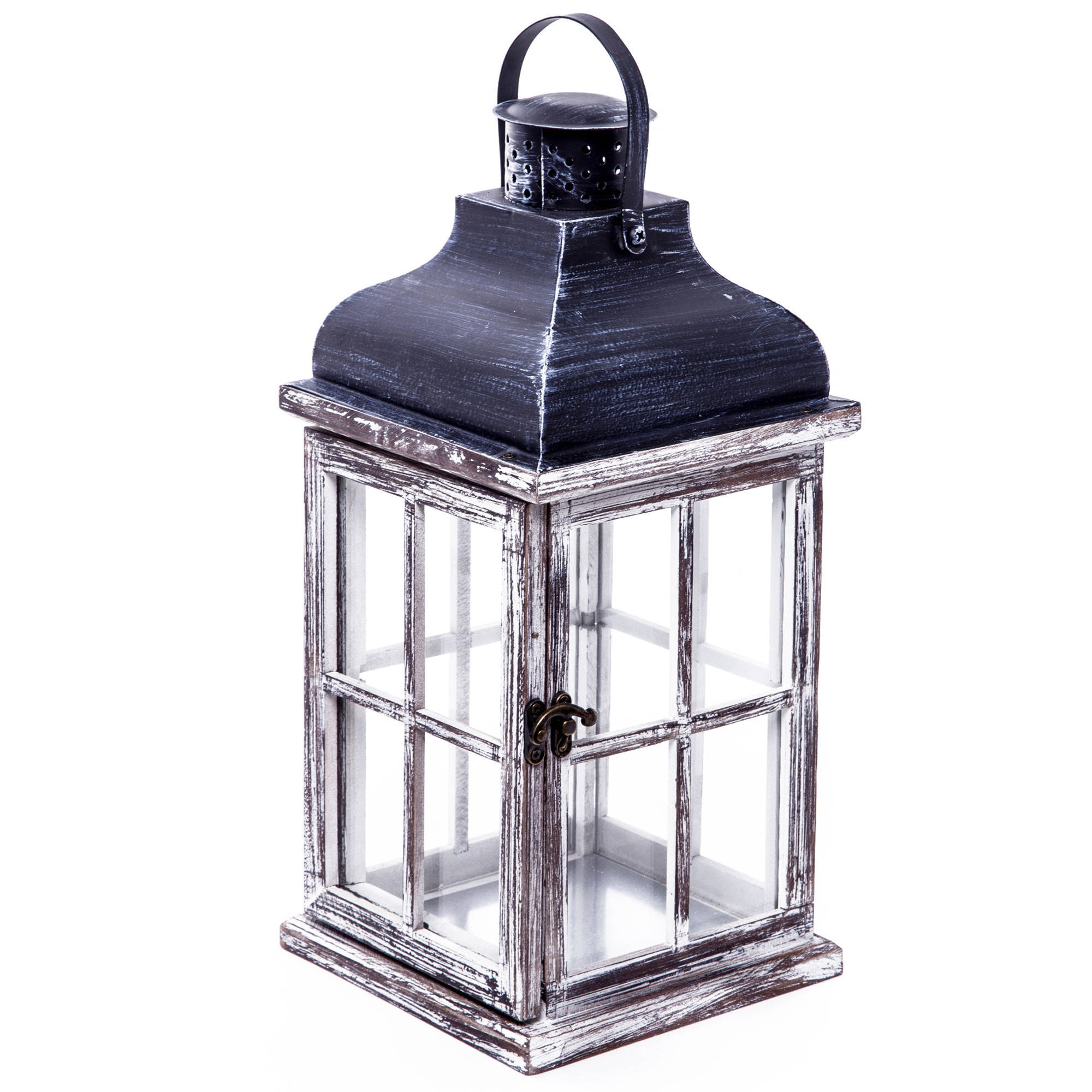 Better Homes & Gardens Wood Outdoor Lantern, Large by