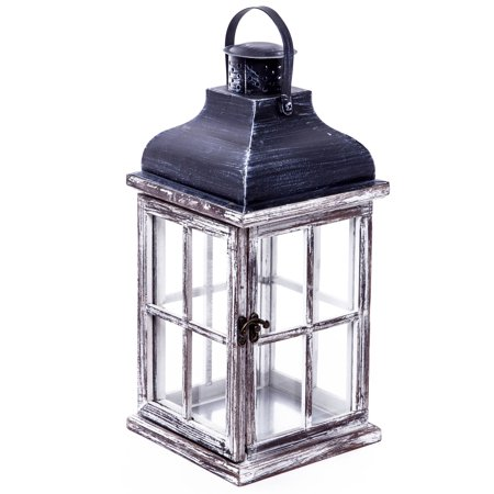 Better Homes & Gardens Wood Outdoor Lantern, Large ()