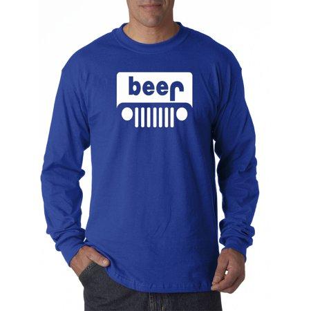 Birthday Funny Long Sleeve (139 - Unisex Long-Sleeve T-Shirt Beer Jeep Funny Drinking Parody)