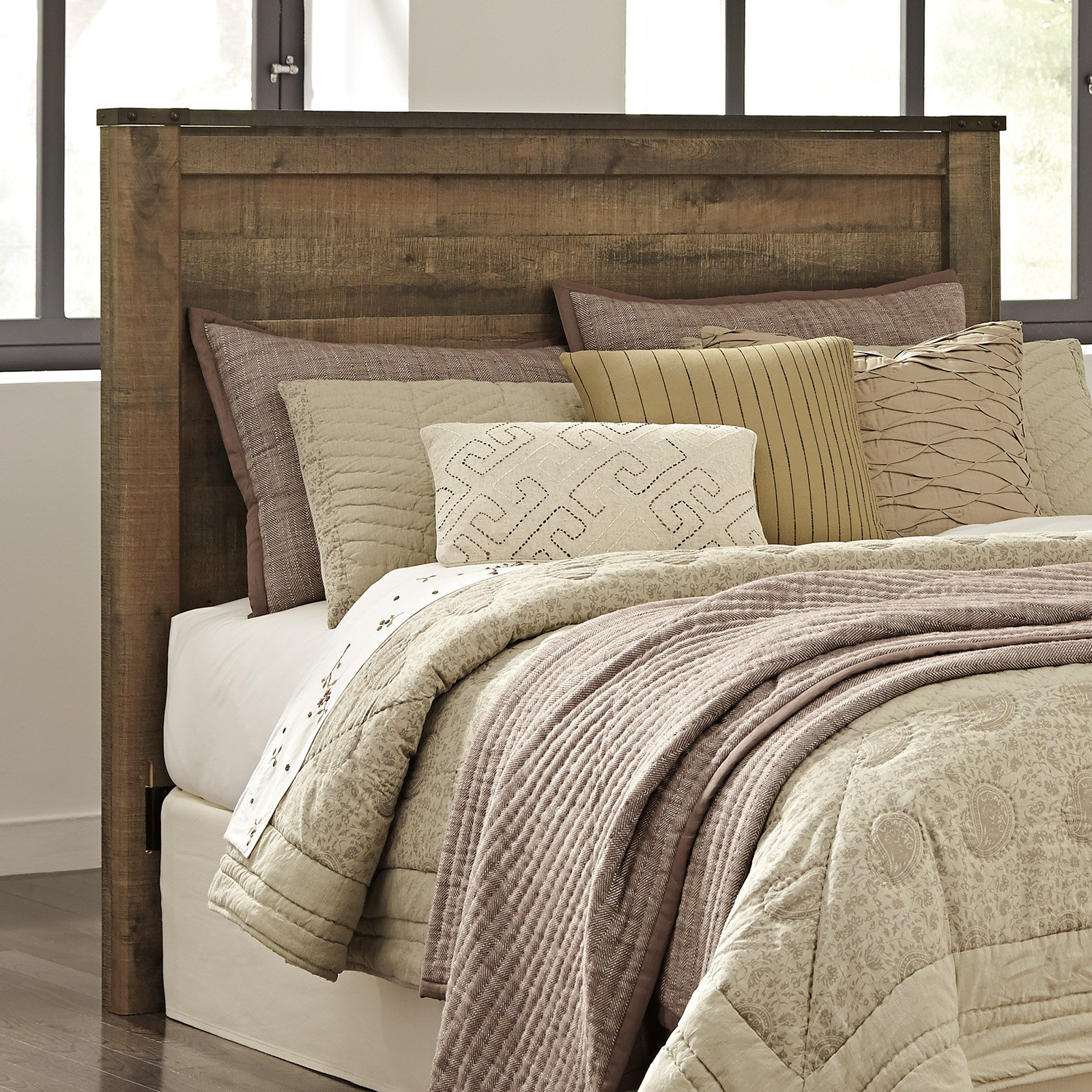 Signature design by ashley trinell panel headboard queen