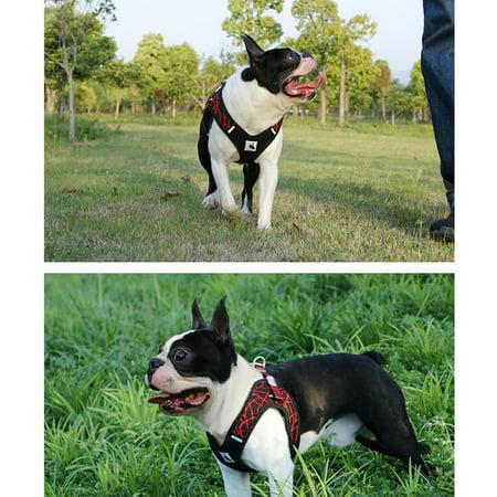 BORORO Dog Harness Vest Breathable Mesh Fabric Safety for Pet Daily Training Walking-Medium Size - image 1 of 2