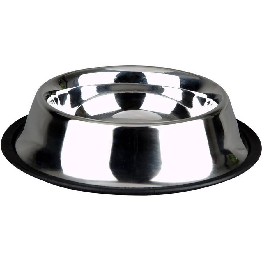 Image of Advanced Pet Products Non-Skid Stainless Steel Dish, 24 oz
