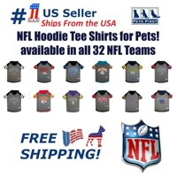 Pets First NFL Detroit Lions NFL Hoodie Tee Shirt for Dogs & Cats - COOL T-Shirt, 32 Teams - Extra Small