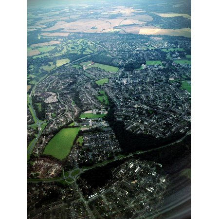 - LAMINATED POSTER Birdseye England Plane Sky Aerial View Travel Poster Print 24 x 36